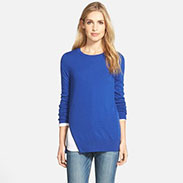 Halogen Zip Detail Pollover Sweater(Regular Petite)