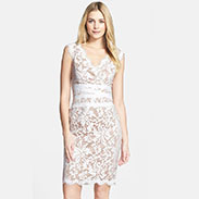 Tadashi Shoji Embroidered Lace Sheath Dress(Regular Petite)