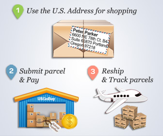 USgobuy parcel forwarder help online shopping Zappos usa